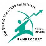 DIN EN ISO 9001:2008 zertifiziert
